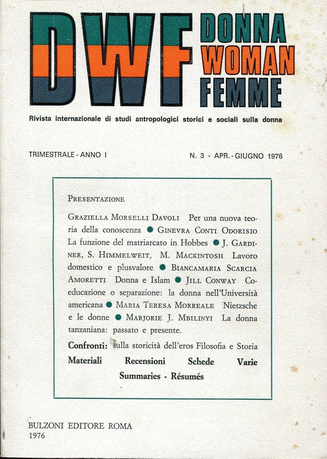 DWF, Anno I, n. 3, 1976