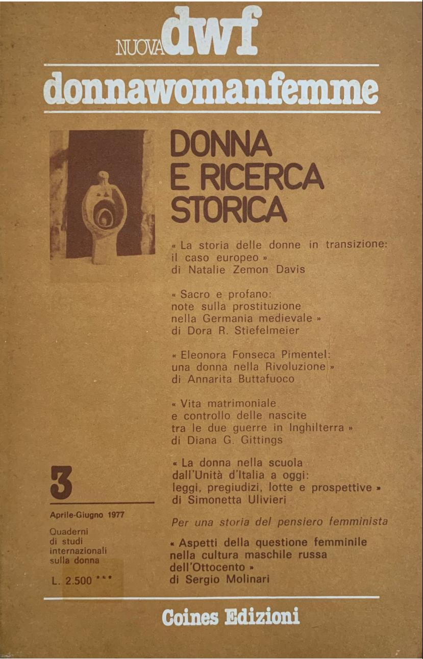DONNA E RICERCA STORICA, Nuova DWF (3) 1977