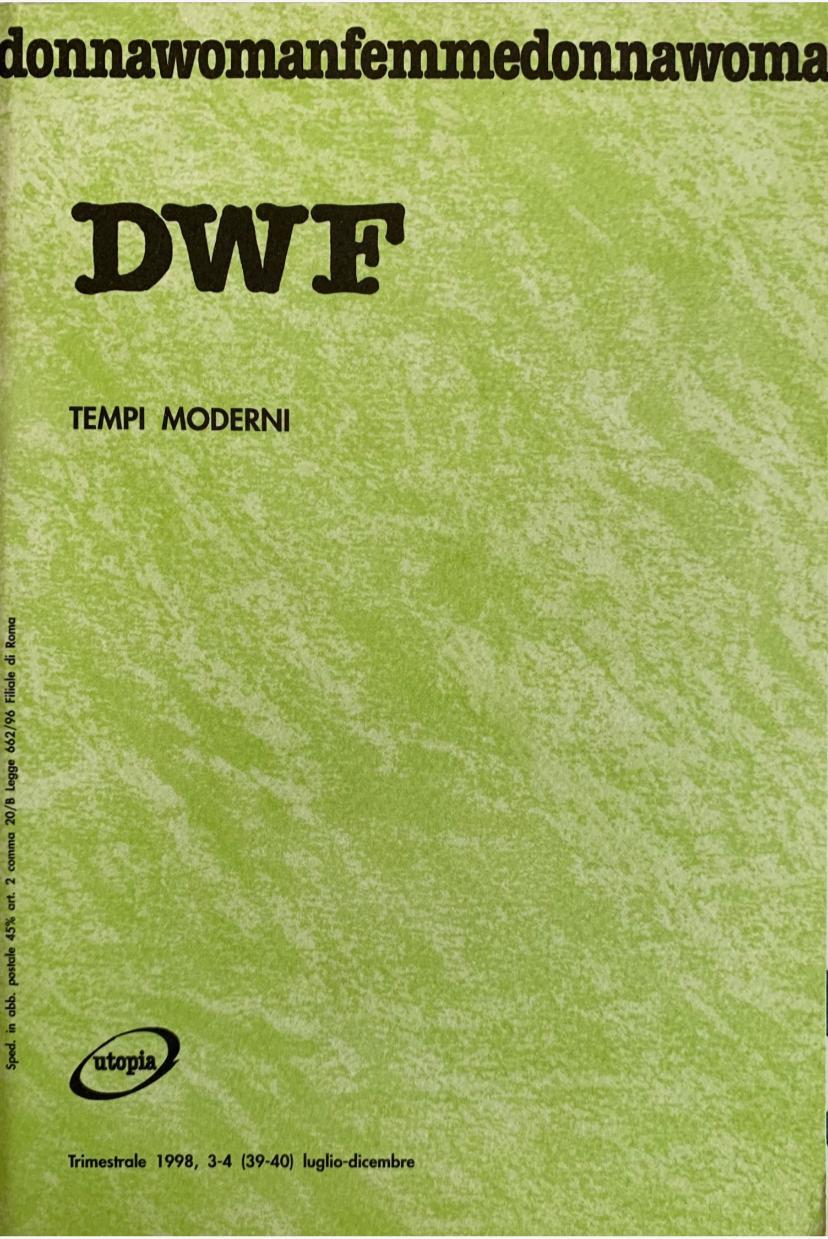 TEMPI MODERNI, DWF (39-40) 1998, 3-4