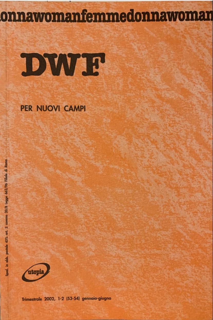 PER NUOVI CAMPI, DWF (53-54) 2002, 1-2