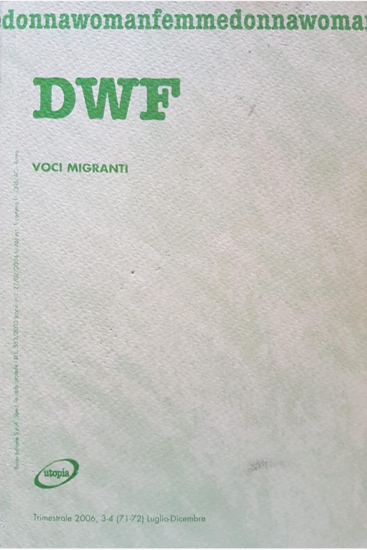 VOCI MIGRANTI, DWF (71-72) 2006, 3-4