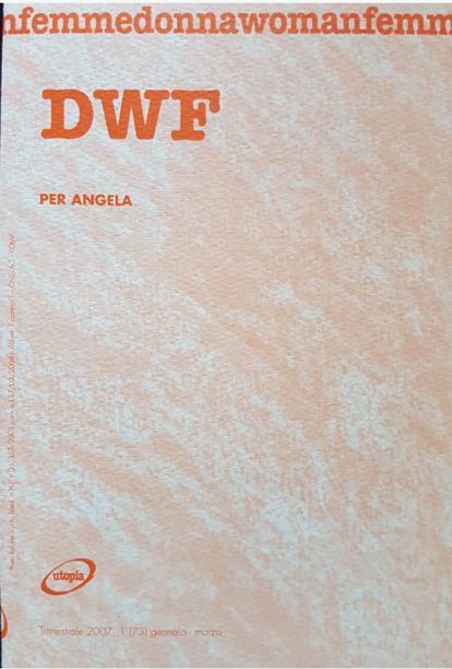 PER ANGELA, DWF (73) 2007, 1