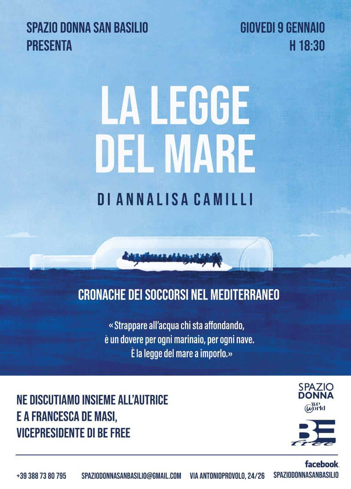 LA LEGGE DEL MARE di Annalisa Camilli, Rizzoli, Milano 2019