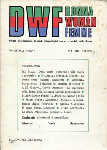 DWF, Anno I, n. 1, 1975