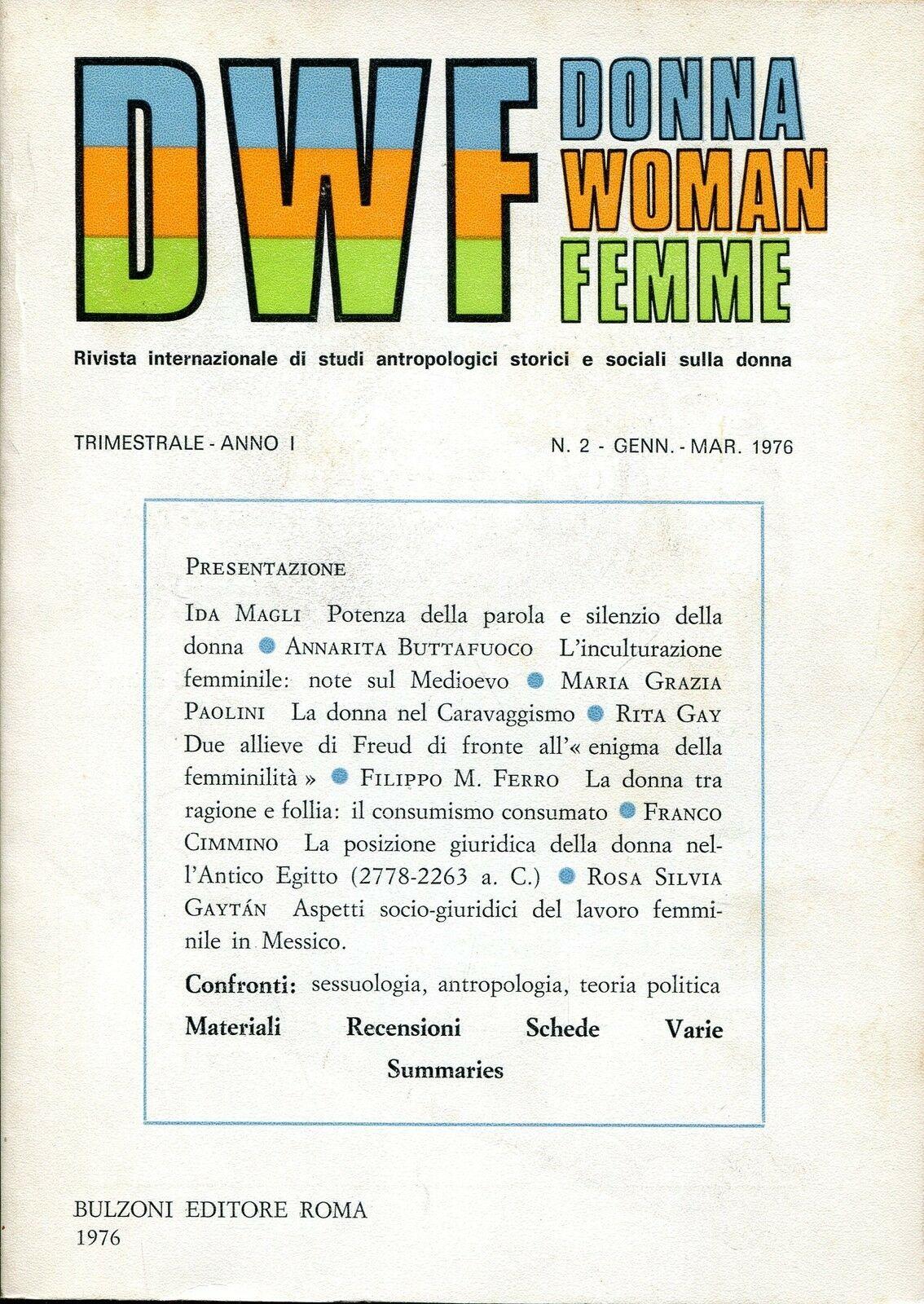 DWF, Anno I, n. 2, 1976
