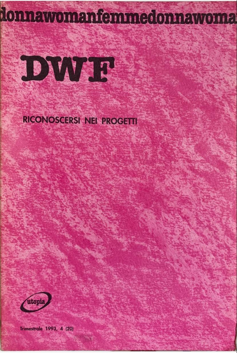 RICONOSCERSI NEI PROGETTI, DWF (20) 1993, 4
