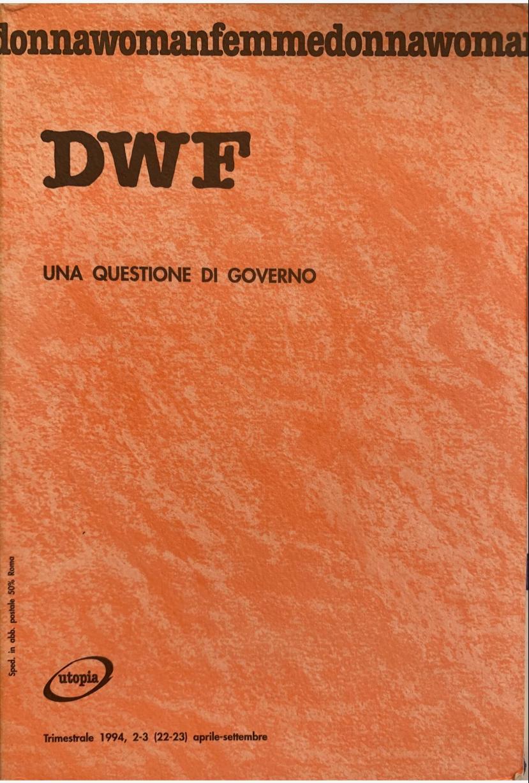 UNA QUESTIONE DI GOVERNO, DWF (22-23) 1994, 2-3