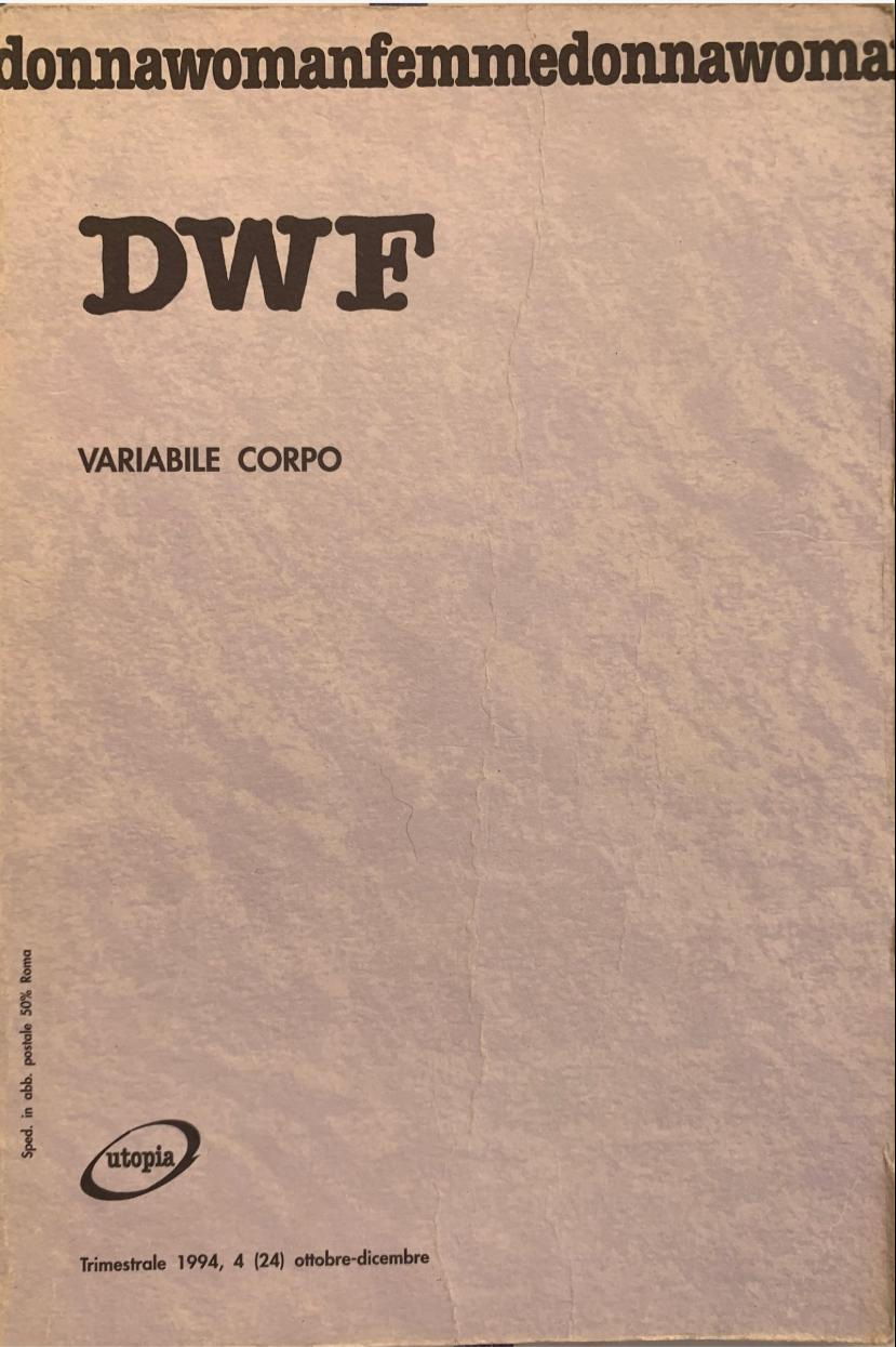 VARIABILE CORPO, DWF (24) 1994, 4