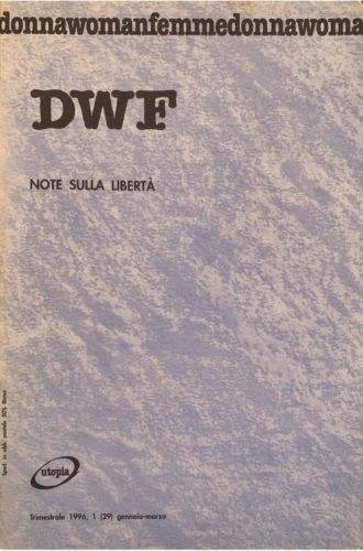 NOTE SULLA LIBERTÀ, DWF (29) 1996, 1