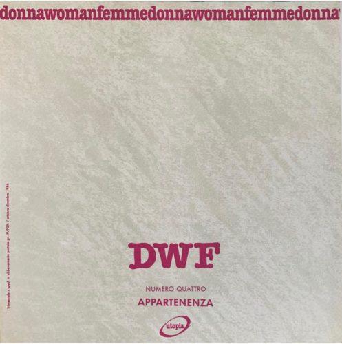 APPARTENENZA, DWF (4) 1987