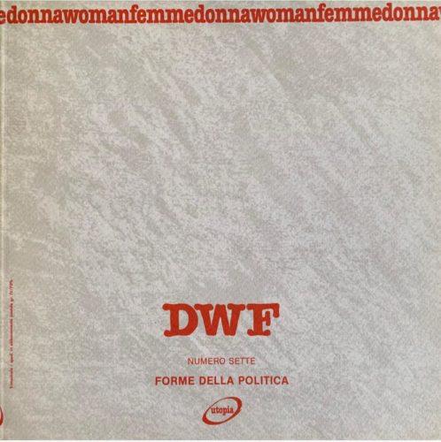 FORME DELLA POLITICA, DWF (7) 1988, 3