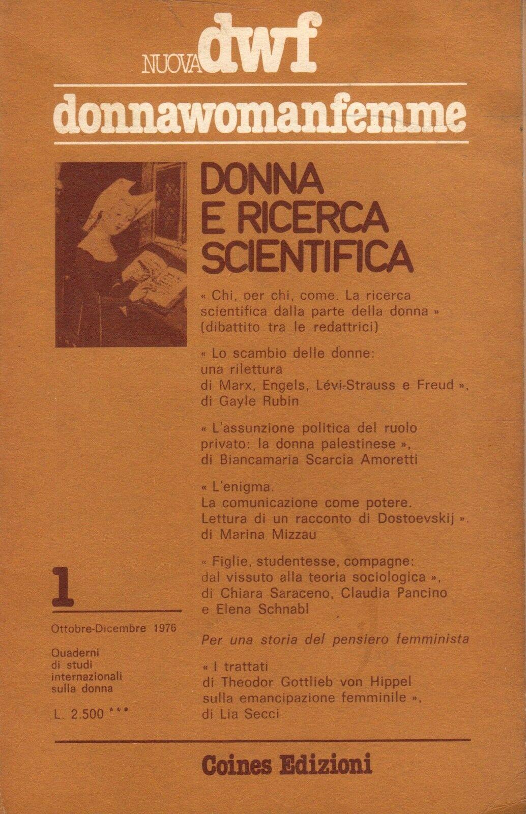 DONNA E RICERCA SCIENTIFICA, Nuova DWF (1) 1976