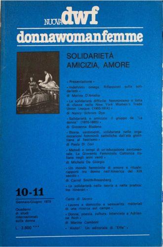 SOLIDARIETÀ, AMICIZIA, AMORE, Nuova DWF (10-11) 1979