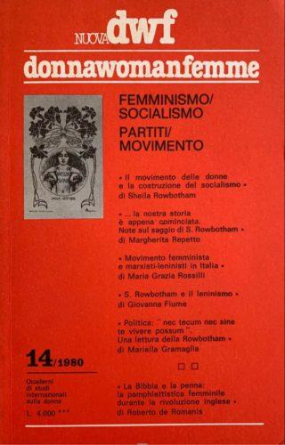 FEMMINISMO/SOCIALISMO - PARTITI/MOVIMENTO, Nuova DWF (14) 1980