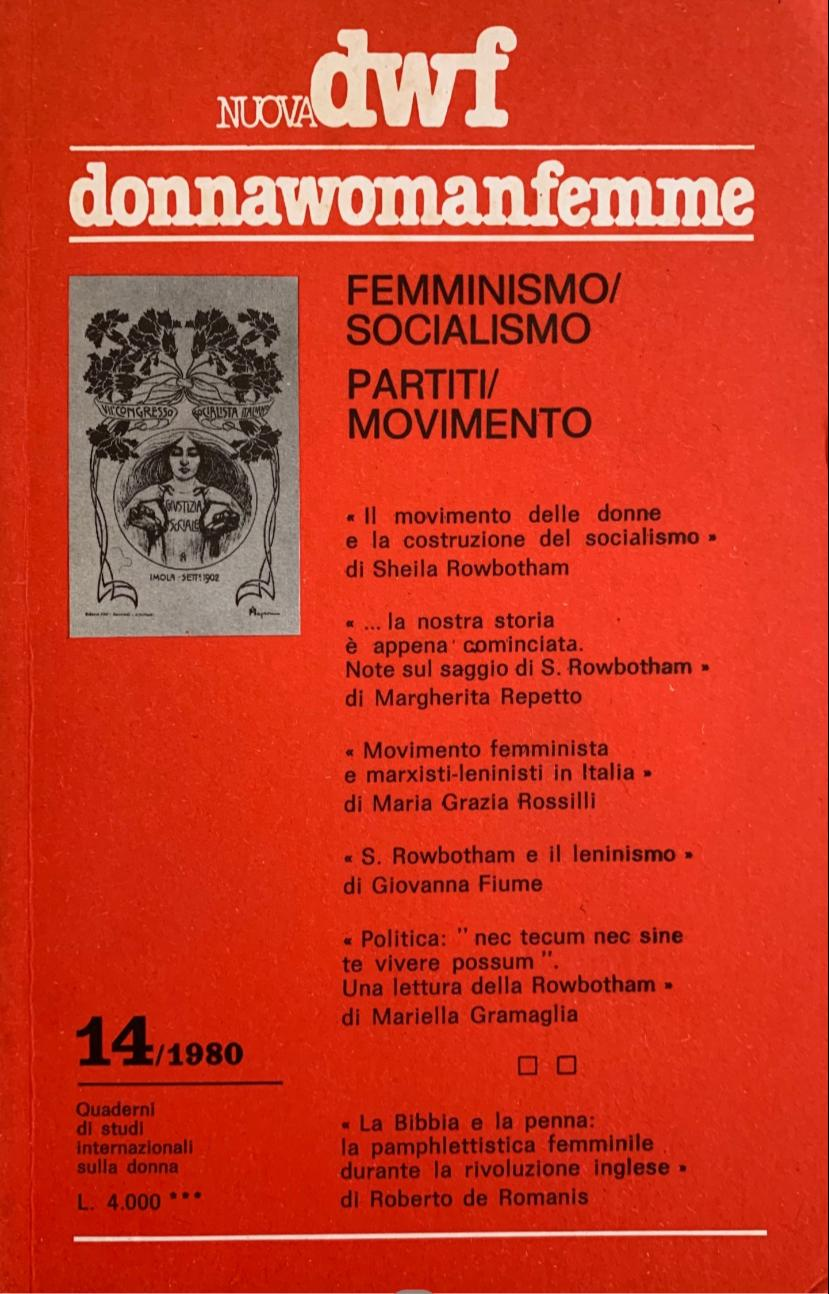 FEMMINISMO/SOCIALISMO – PARTITI/MOVIMENTO, Nuova DWF (14) 1980