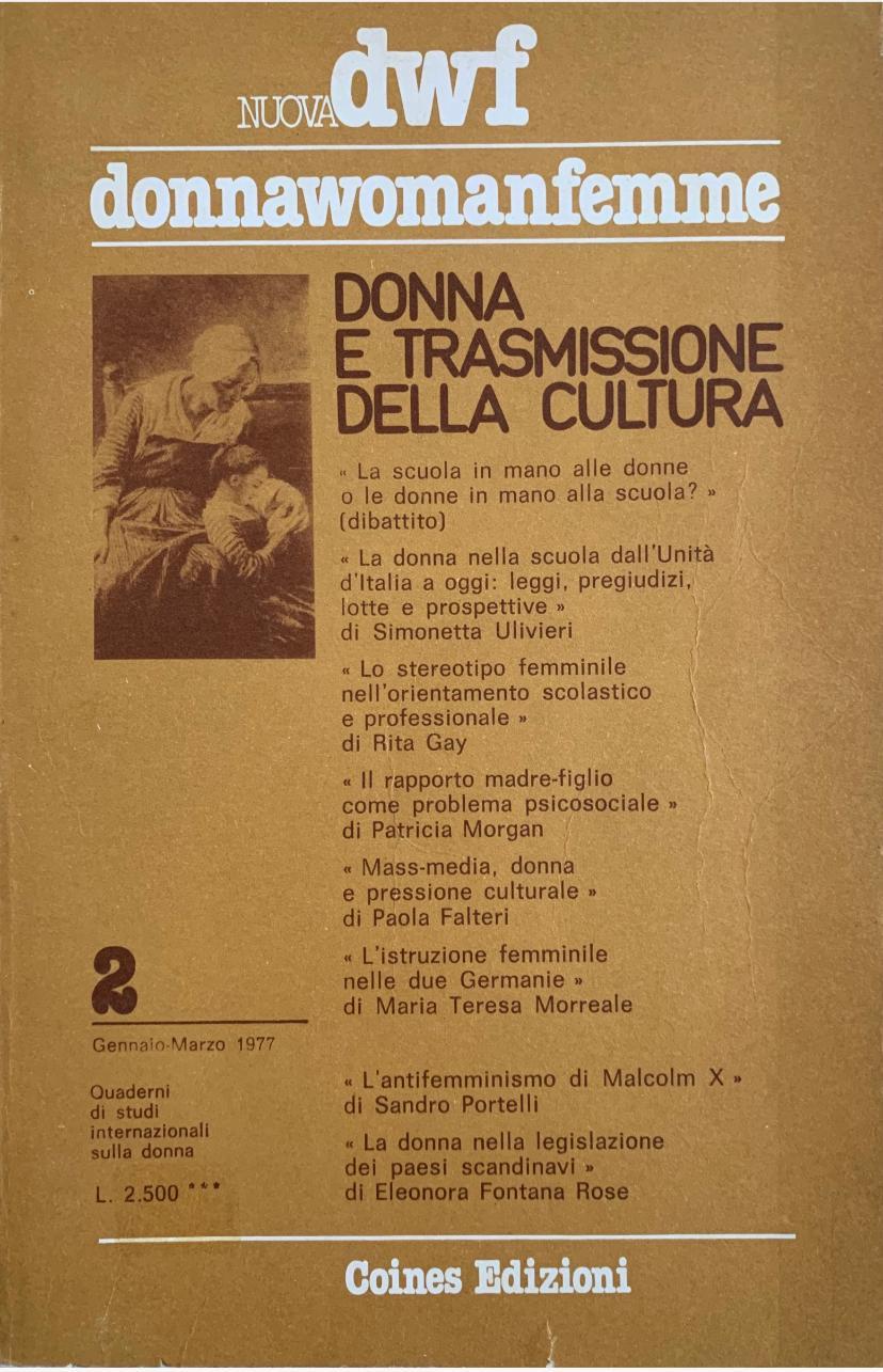 DONNA E TRASMISSIONE DELLA CULTURA, Nuova DWF (2) 1977