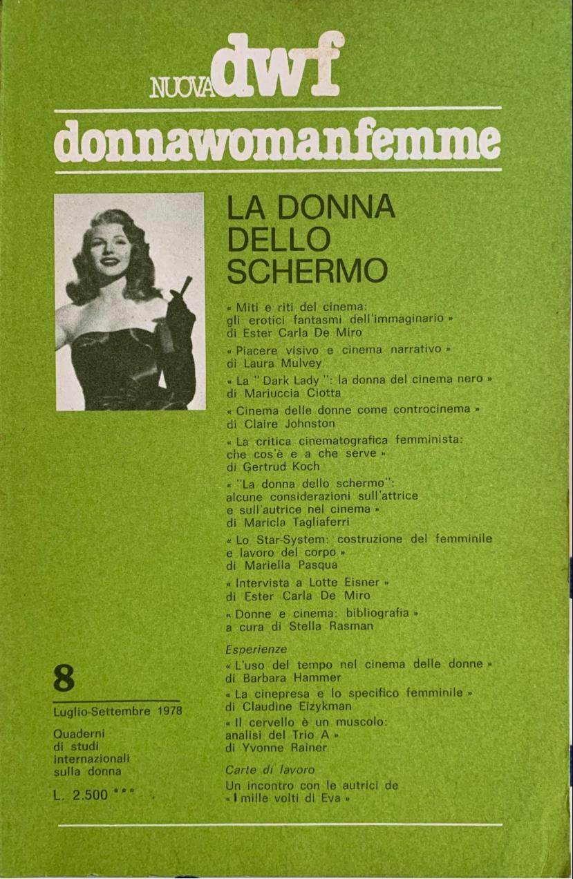 LA DONNA DELLO SCHERMO, Nuova DWF (8) 1978
