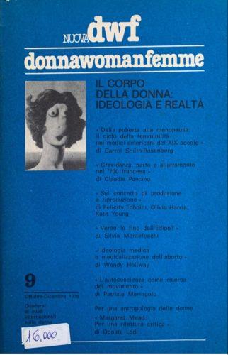 IL CORPO DELLA DONNA. Ideologia e realtà, Nuova DWF (9) 1978